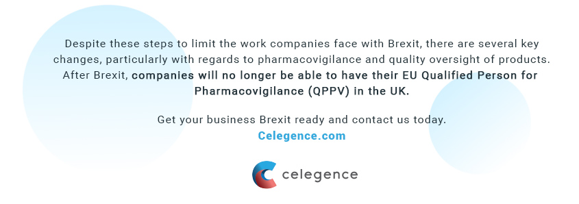 Brexit Changes Regarding Qualified Person for Pharmacovigilance QPPV - Celegence - Life Science