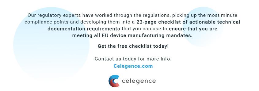 EU MDR Checklist - Guide to EU MDR Compliance - Celegence