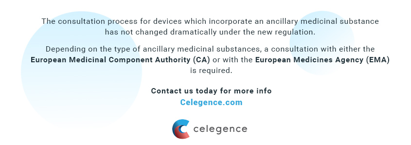 Medical Devices with Ancillary Medicinal Substances (Combination Products) - Celegence