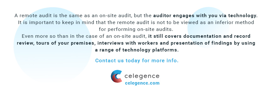 What is a Remote Medical Audit - Celegence Medical Device Consultants