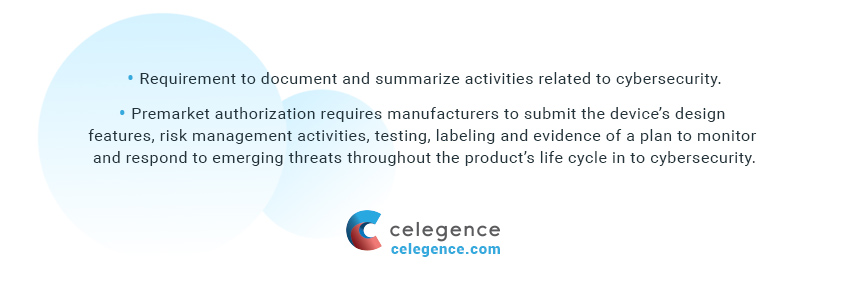 Regulatory Submission Documentation by Manufacturers - EU MDR Medical Device Cybersecurity Regulations