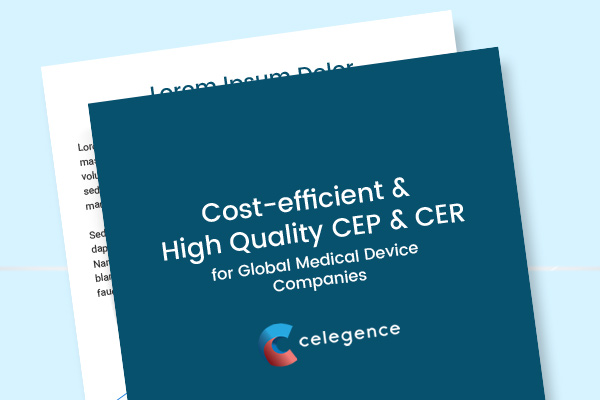 Cost-efficient and High Quality CEP & CER Writing for Global Medical Device Companies - Celegence - Case Study - Feature