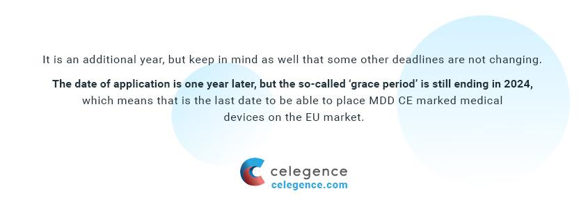 EU MDR 2017745 - One Year Delay - Celegence