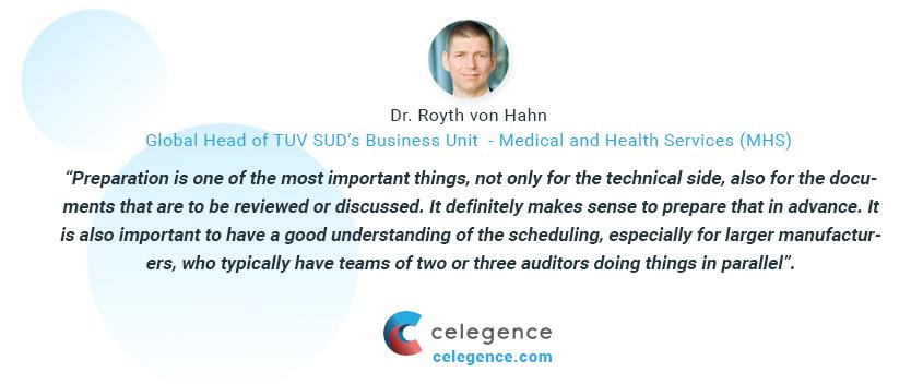 Virtual Audits - Dr Royth von Hahn - Celegence