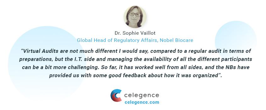 Virtual Audits EU MDR - Dr Sophie Vaillot - Celegence