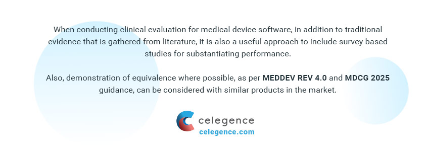 Clinical Evaluations - Medical Device Software - Celegence