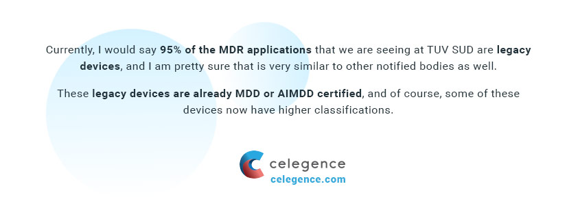 MDR Applications for Legacy Devices - Celegence