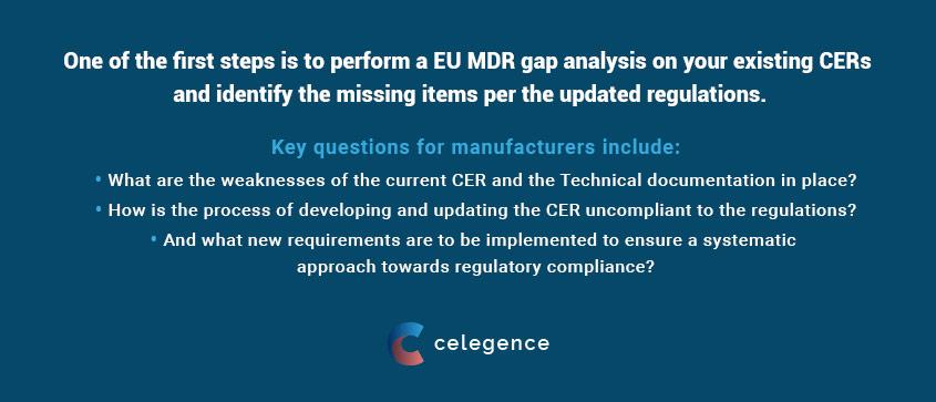 Clinical Evaluation Report - EU MDR Gap Analysis - Medical Devices - Celegence