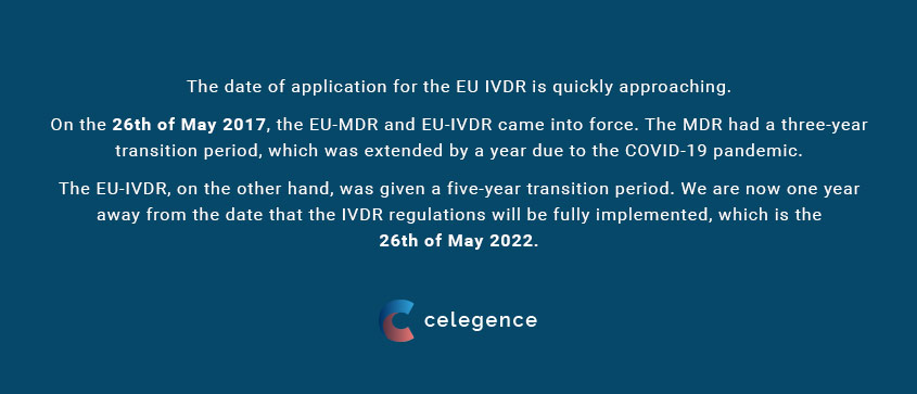 EU IVDR - May 26 2022 - IVD Consulting Celegence