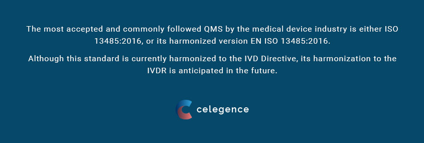In Vitro Diagnostic Regulation ISO QMS for EU - Celegence