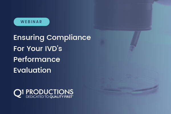 Webinar Signup- Ensuring Compliance IVD Performance Evaluation - Celegence - Feature
