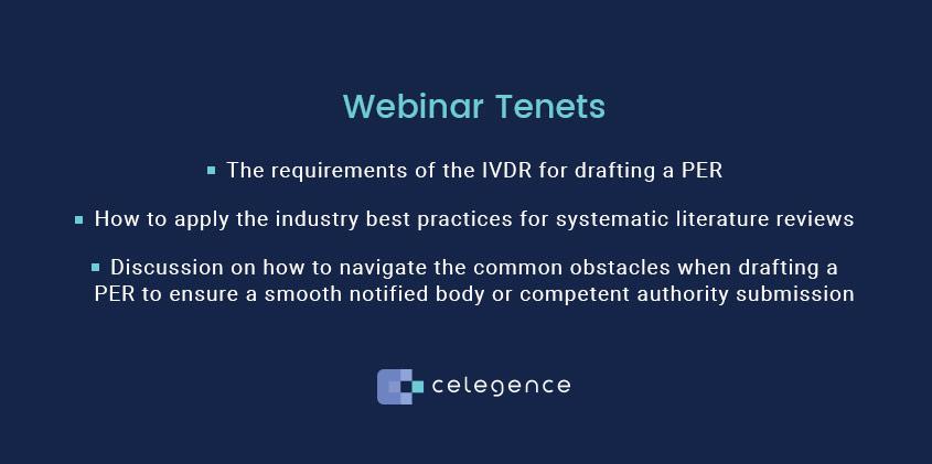 Webinar Tenets - In Vitro Diagnostic Device Regulation - Celegence